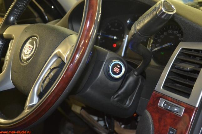 Установка кнопки старт-стоп на Кадиллак Эскалейд Cadillac Escalade.