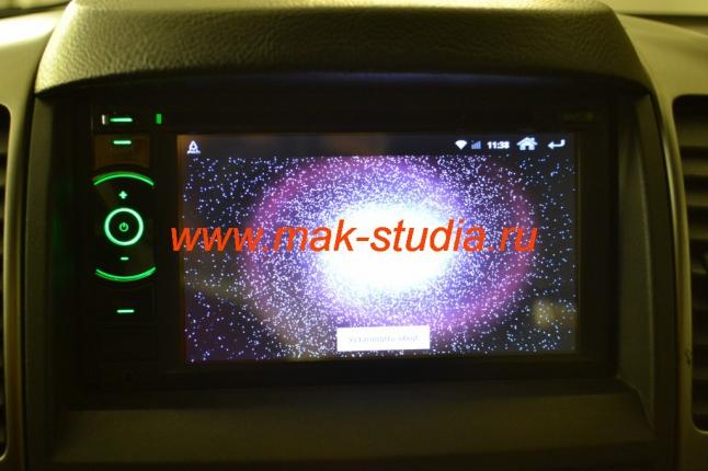 Штатное головное устройство Kia Sorento - режим заставки