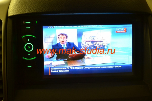 Штатное головное устройство Kia Sorento - дополнительно установленный модуль цифрового телевидения