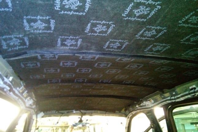 шумоизоляция крыши шкода -второй слой, войлок