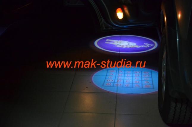 Лазерная проекция логотипа авто Киа