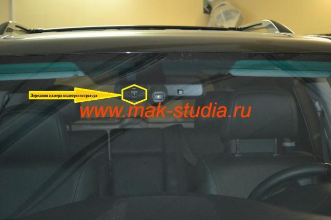 Автомобильный видеорегистратор: снаружи совершенно не выделяется из общей картины.