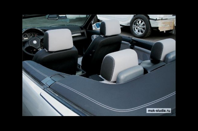 Перетяжка салона кожей BMW 3