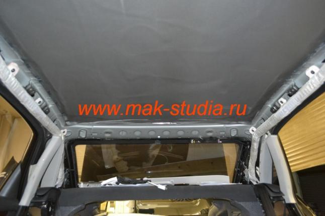 Шумоизоляция крыши автомобиля  ауди А4