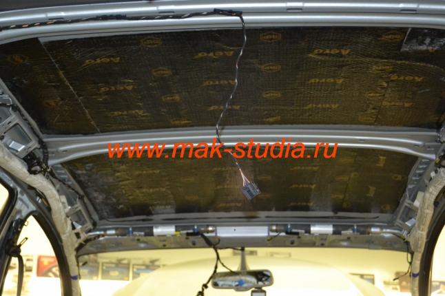 Шумоизоляция потолка - слой вибропласта серии AERO