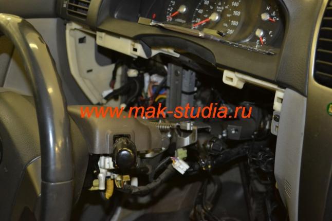 Кнопка engine start-stop - демонтаж замка зажигания