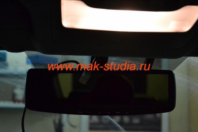 Видеорегистратор установка на лобовое стекло вместо штатного зеркала