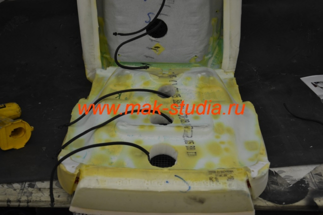 Вентиляция передних сидений фото с обратной стороны