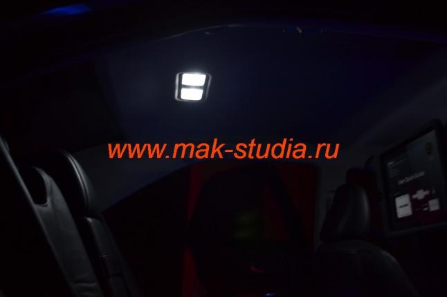 Замена ламп освещения салона автомобиля