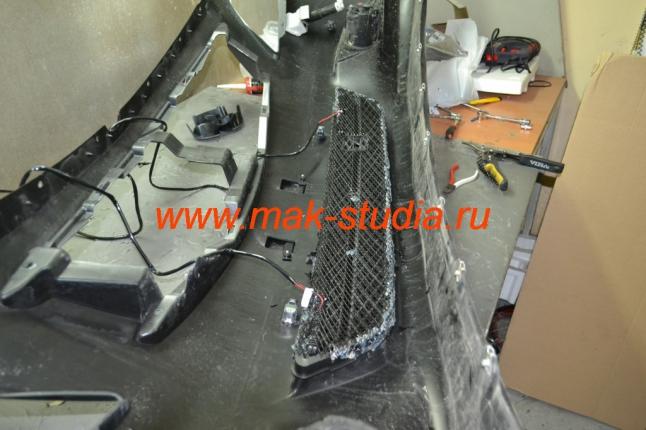 Защитная сетка радиатора - начинаем монтаж