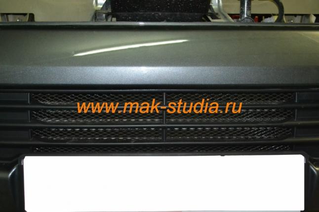 Защита радиатора - всё установлено и собрано