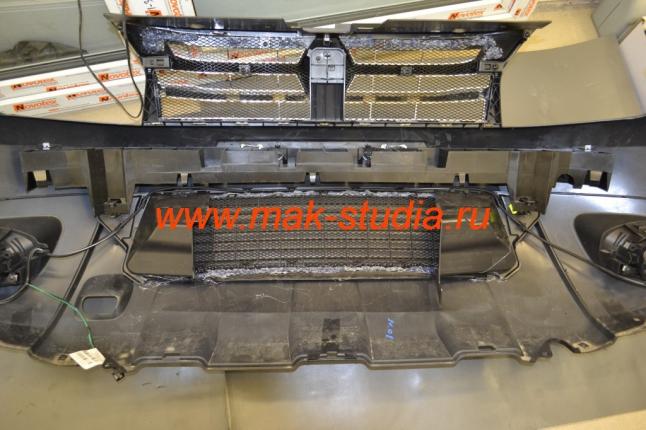Защита радиатора - защитная сетка радиатора установлена