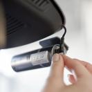Видеорегистратор BlackVue DR400G-HD II в интерьере автомобиля