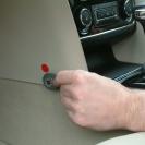 Замок КПП Construct Safetronic в интерьере автомобиля