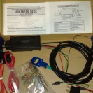 Содержимое упаковки замка капота Fortress Smart Lock
