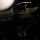 так выглядит салон без подсветки