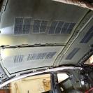 Шумоизоляция крыши Шевроле Камаро-голый потолок