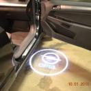 Лазерная проекция логотипа автомобиля Опель