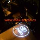 Лазерная проекция логотипа Тойота Прадо