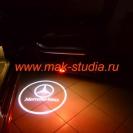 Лазерная проекция логотипа Мерседес