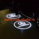 Лазерная проекция логотипа авто на Mercedes–Benz