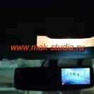 Видеорегистратор в зеркале заднего вида - совершенно не мешает водителю.