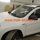 Оклейка автомобиля плёнкой - зеркала в чёрный цвет
