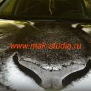 Винилография на капот автомобиля