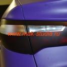 Оклейка автомобиля плёнкой - задние фонари в чёрный мат
