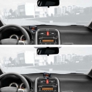 Парктроник ParkMaster 4-DJ-38 в интерьере автомобиля