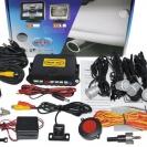 Комплектация парковочной системы Sho-Me KDR-25 с серебристыми датчиками