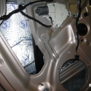Первый слой - Вибропласт Silver. Предназначен для снижения вибраций внешнего (уличного) участка двери