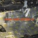 Клеим шумоизоляционный материал Вибропласт голд