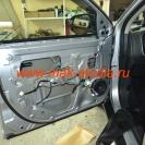 Шумоизоляция дверей автомобиля (передняя дверь) - штатной шумоизоляции нет