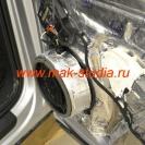 Вибропласт значительно усилит металл двери и не даст ему вибрировать при сильном звуковом давлении от колонки