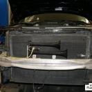Сигнал воздушный  удачно вписался в компоновку авто.