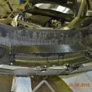 Снимаем бампер и устанавливаем защитную сетку радиатора изнутри